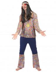 Psychedelischer Hippie Kostüm 60er Jahre lila-bunt