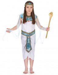 Kleopatra Kinder-Kostüm blau-weiss-gold