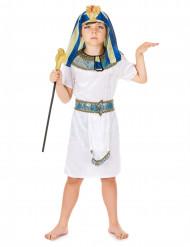 ägyptischer Pharao Kinderkostüm weiss-blau-gold