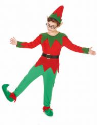 Wichtel Kinderkostüm Weihnachtskostüm rot-grün