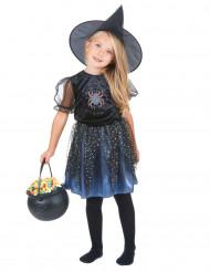 Bezaubernde Spinnen-Magierin Halloweenkostüm für Mädchen Hexe lila-schwarz