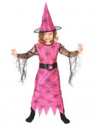 Magische Hexe Kinderkostüm Märchen pink-schwarz