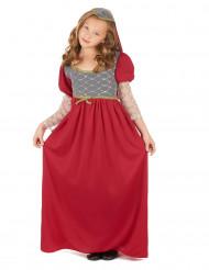 Mittelalter Kinder-Kostüm rot-gold-grau