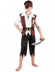 Seeräuber-Kinderkostüm Piratenmatrose braun-weiss-schwarz