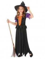 Märchen-Hexe Kinderkostüm schwarz-lila-orange