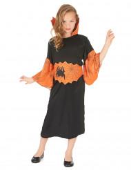 Spinnenkönigin Kinderkostüm schwarz-orange