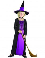 Magische Hexe Kinderkostüm Halloween schwarz-lila