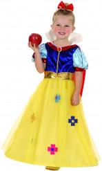 Märchenprinzessin-Kinderkostüm Märchenkostüm gelb-blau-rot