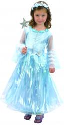 Märchenhafte Prinzessin Kinderkostüm Märchenkleid blau