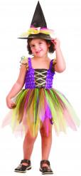 Hexen-Kleid Kinderkostüm bunt