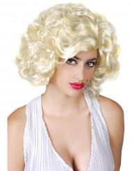 Marilyn Damen-Perücke Locken hellblond