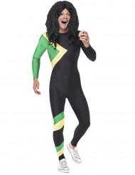 Jamaikanischer Rennbobfahrer Kostüm schwarz-grün-gelb