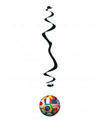 Fussball Hängedeko WM-Ball Spirale 6 stück bunt 80 cm
