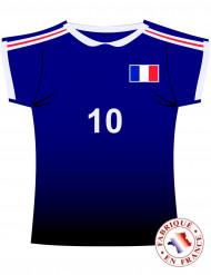 Frankreich Wand-Deko Fußball-Deko blau