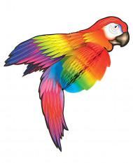Wabendeko Papagei Party-Deko bunt 76cm