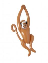 Aufblasbarer Affe Party-Deko braun 50cm