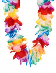 Hawaii Halskette Blumen-Kette bunt