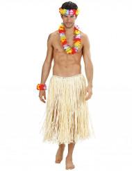 Hawaii Kostümzubehör Blumen 3 teilig bunt