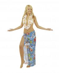 Hawaii Blumenkette Kostümaccessoire weiss-braun