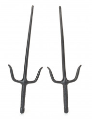Sai Ninja-Messer 2 Stück schwarz 36x12cm