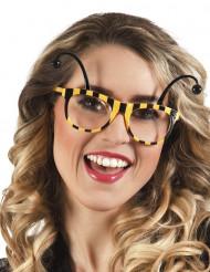 Witzige Biene Karneval-Brille schwarz-gelb