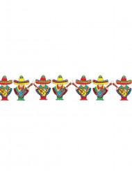 Girlande Mexikaner bunt 3m