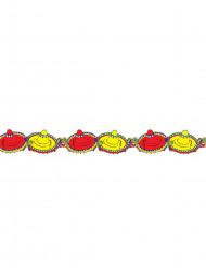 Girlande Sombrero Partydeko gelb-rot 3m