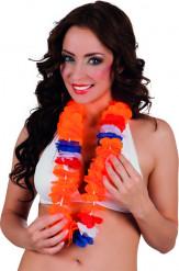 Holland-Hawaiikette Fussball-Fanartikel orange-blau-weiss