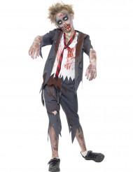 Zombie Schuljunge Halloween Kinderkostüm grau-weiss