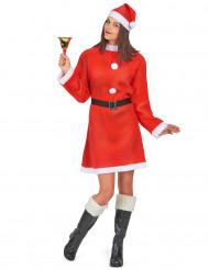 Weihnachtsfrau-Damenkostüm Advent-Kostüm rot-weiss