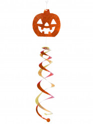 Kürbis-Hängedeko Halloweenspirale orange-pink-gold 70cm