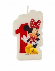 Geburtstagskerze Minnie Mouse Zahl 1 Lizenzartikel bunt