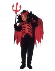 Kleiner Teufel Halloween-Kinderkostüm rot-schwarz