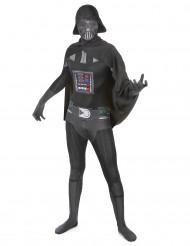 Darth Vader Second Skin-Suit StarWars-Kostüm schwarz-grau