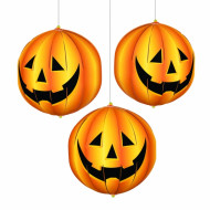 Halloween Kürbis Laternen orange 15cm