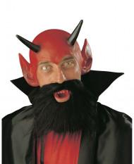 Teufelsaccessoires Halloween-Set 3-teilig rot-schwarz