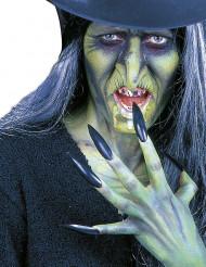 Lange Halloween-Fingernägel Kunstnägel mit Kleber 10 Stück schwarz 6cm