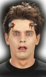 Schraube durch Kopf Latex-Applikation grau