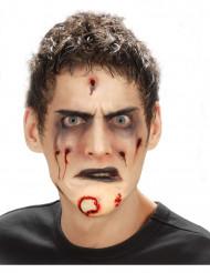 Zombie Kinn Latexapplikation haut