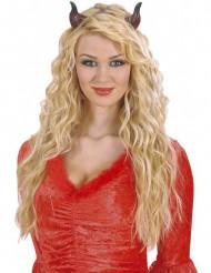 Teufelshörner-Haarreif schwarz-rot