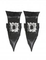 Hexe-Stiefelstulpen Kostüm-Accessoire schwarz-silber