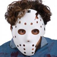 Serienmörder Halloween-Hockeymaske Kostümzubehör weiss
