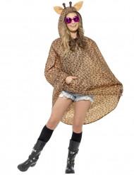 Party Poncho Giraffe braun