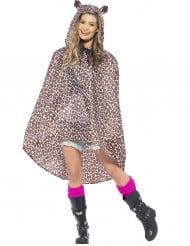 Party Poncho Leopard braun