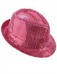 Glitzer Partyhut mit Pailletten rosa