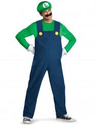 Luigi Deluxe Kostüm Super Mario Videospiel grün-blau