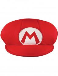 Mario Mütze Kostüm-Accessoire für Erwachsene rot-weiss