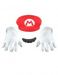 Mario Accessoires-Set Super Mario Videospiel weiss-rot-schwarz