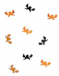Hexen-Konfetti Halloween schwarz-orange 10g