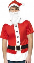 Weihnachtsmann-Erwachsenenkostüm Nikolaus rot